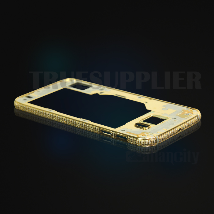 24Kt gold middle plate for Samsung S6 diamond faceplate