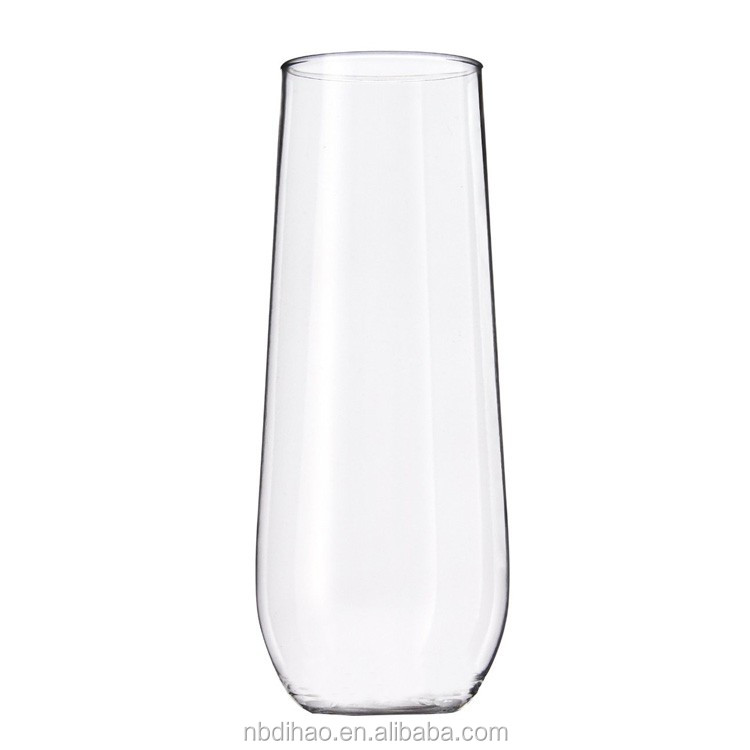 Unbreakable Stemless 8 oz Champagne Glasses Plastic