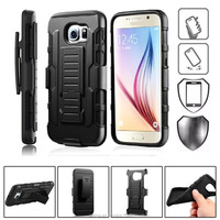 Factory Have Stock!TPU+PC Combo case10 Colors 2 layer Armor rugged hybrid hard case for samsung galaxy S7 S6 Edge Plus/ S4 / S5