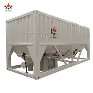 Horizontal cement container type silo for concrete mixing plant