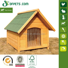 Hot Sales! Asphalt Roof Wooden Dog Cage With Porch