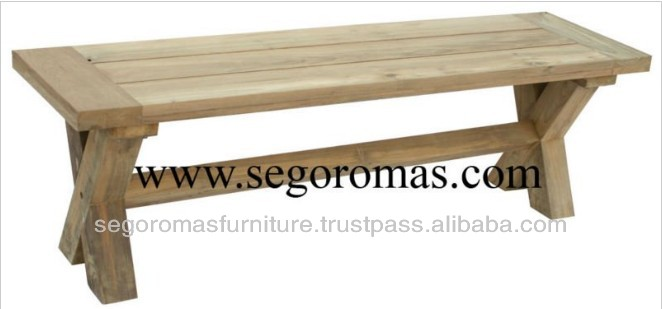 High Quality Folding Teak Furniture Wooden Cross Bench