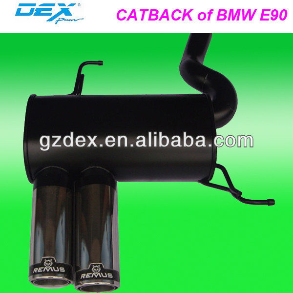 stainless steel tuning catback exhaust system for bmw E46