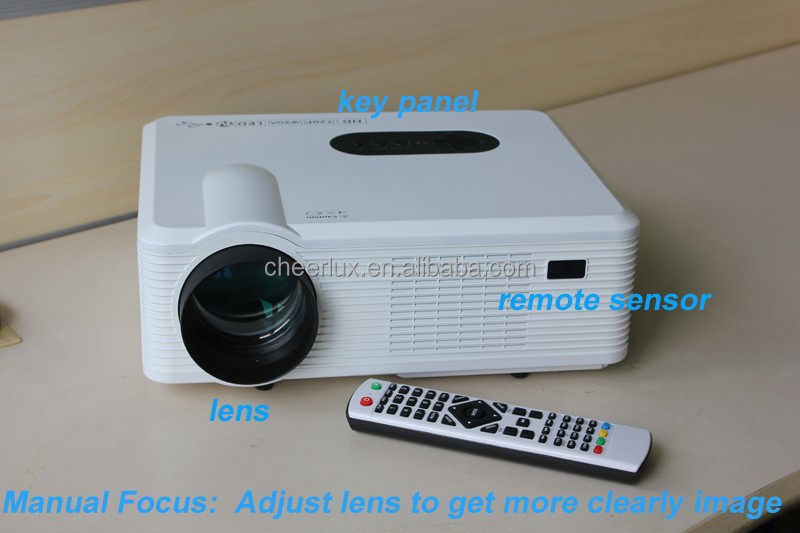 Foctory Price ! 3000 lumens 3D led projector with multimedia interfaces 50000 hours life suit for large screen up to 260 inch