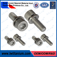 Machine Processing Polished M8 Titanium Bolts for Bicycle