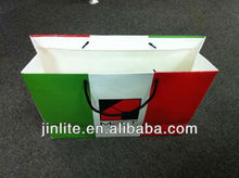 Italy flag Shopping Paper Bag with Recycled Paper