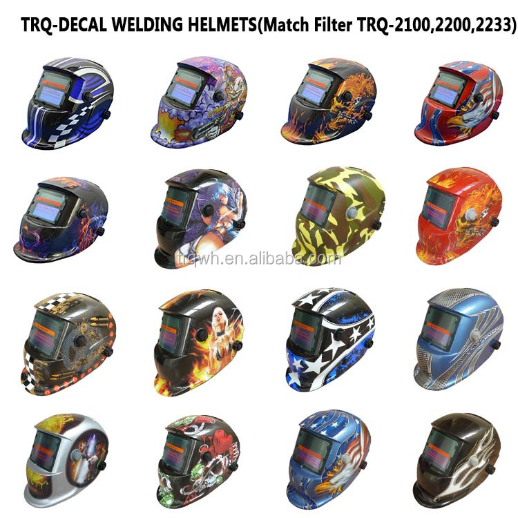2 decal welding helmet