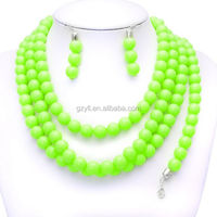 fluorescence color coral beads jewelry China jewelry set/ women beloved jewelry