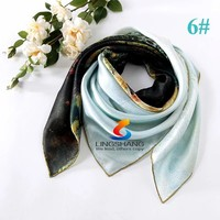 2015 spring new arrival France Euro brand style women fashion silk polyester silk square scarf big size 87*87cm silk shawl
