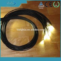 Plastic Cable Material Fiber Optic Lighting For Decoration