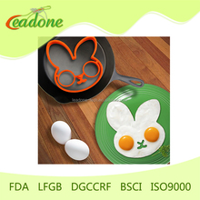 Fried egg forms silicone egg shaped ring