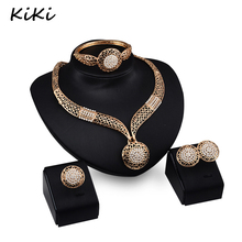 >>>>New Gold Plated Indian Jewelry 18K Gold Plated Necklace Set Wedding Bridal Dubai Jewelry Sets