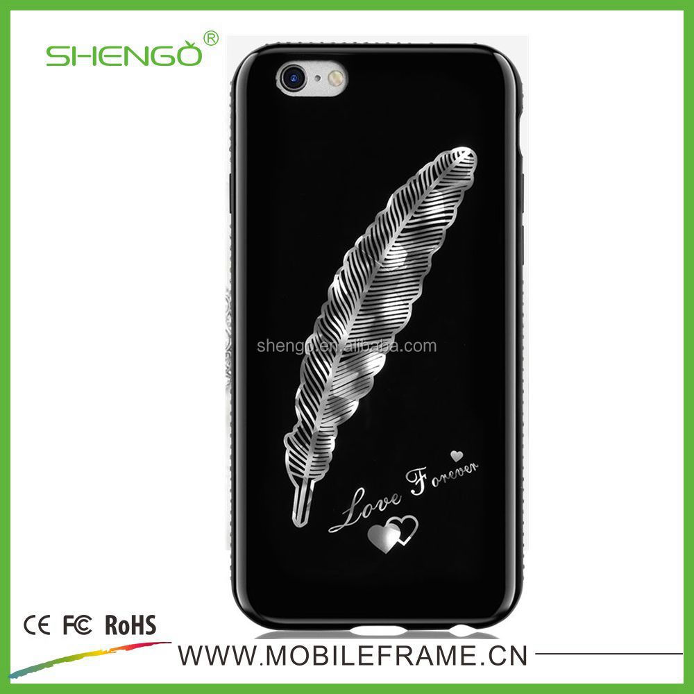 SHENGO New Design IMD Technical TPU Mobile Phone Outer Case with 3d pattern for iPhone 7/7plus