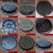 en124 black bitumen coated iron casting manhole cover factory sale