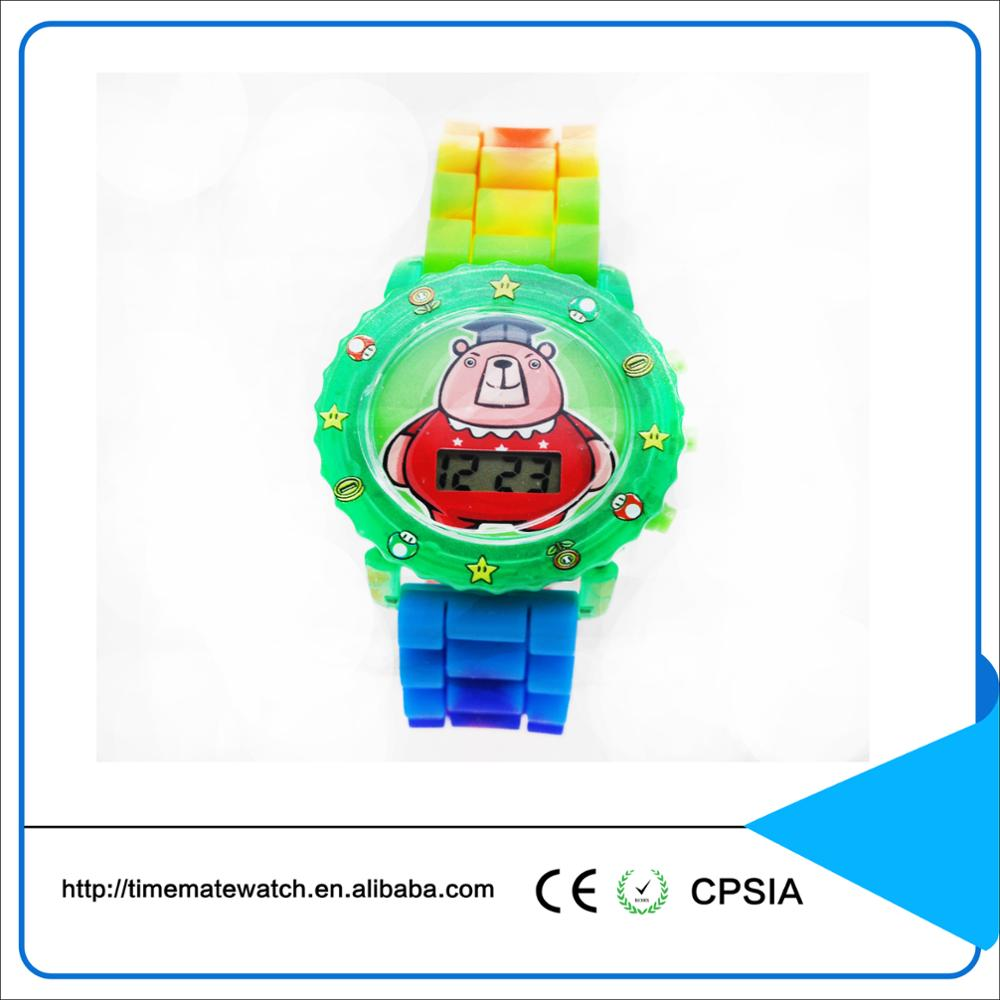 Sport watch digital waterproof christmas gifts colorful quartz silicone with custom logo