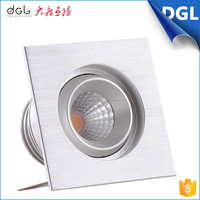 2015 New Hot Round Square Aluminium Body commercial downlight CR. COB chip 3w down light led for shopping mall, office