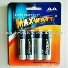 LR6 SIZE AA UM-3 ALKALINE DRY CELL BATTERY 4PCS/CARD