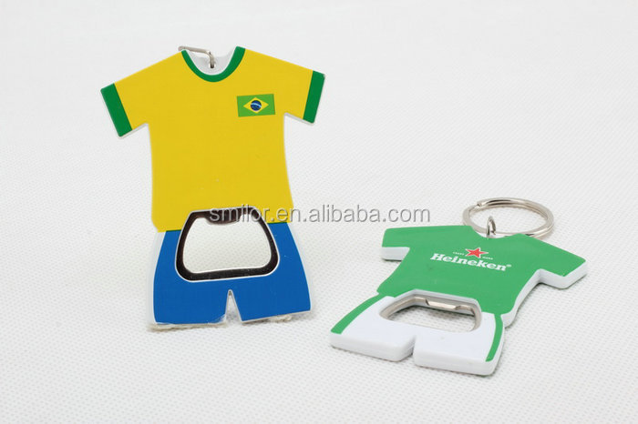 Manufacture Wholesale Creative Recycled T Shirt Bottle Opener With Keychain