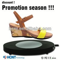 new invention ! magnetic levitating led display stand for shoe woman,official shoes for men