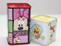 Metal tin can piggy-bank coin box for money saving