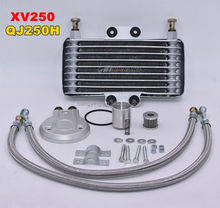 New Motorcycle Oil Cooler Oil Engine Radiator SYSTEM FULL SET For YAMAHA XV125 XV250 LIFAN LF250-B QJIANG QJ250-J