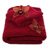 100 Cotton Red Flower Wedding Towel