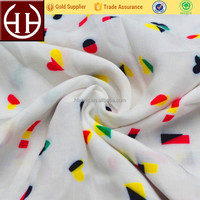 Different types rayon custom fabric printing