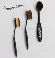 2016 Your Own Brand 10pcs/set Oval Toothbrush Makeup Brush Kits Beauty Cosmetics Makeup Sets