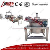 Automatic tofu frying oil removing machine