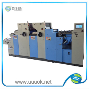 2 color double coding high speed offset printer