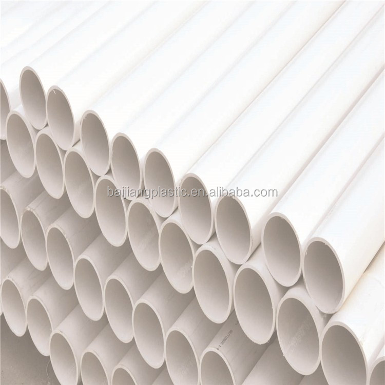 High Quality 125mm PVC Water Pipe Price List