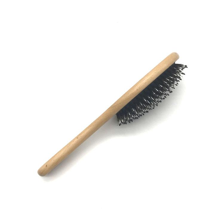 Hot selling wooden mixture boar and nylon bristle hair brush