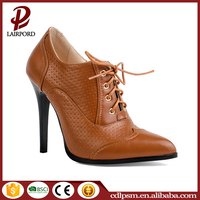 New design lace up wholesale women pencil high heel shoes