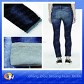 SH-L7124 Knitted denim fabric indigo twill textile factory