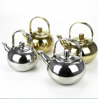 portable stainless steel silver tea kettle water pot for camping