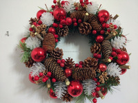 Trade Assurance wholesale artificial christmas decoration wreath/garland