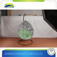 weatherproof outdoor rattan garden furniture egg chair hanging swing chair