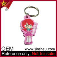 China OEM Factory Bulk Cheap Custom PVC Rubber Cute VooDoo Doll Keychain