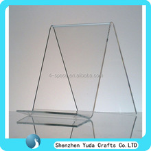 Clear lucite acrylic magazine holder tabletop acrylic book page holder