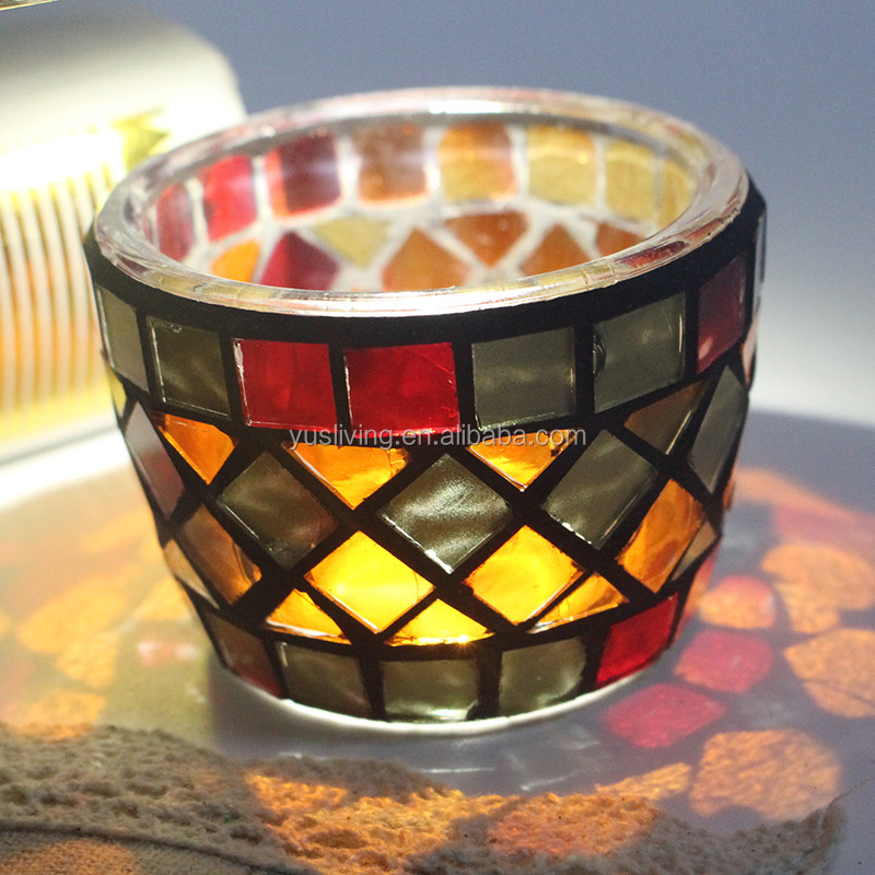 romantic wedding tealight glass Candle Holder factory price