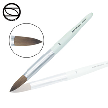 Newest pure kolinsky germany crystal acrylic nail art brush