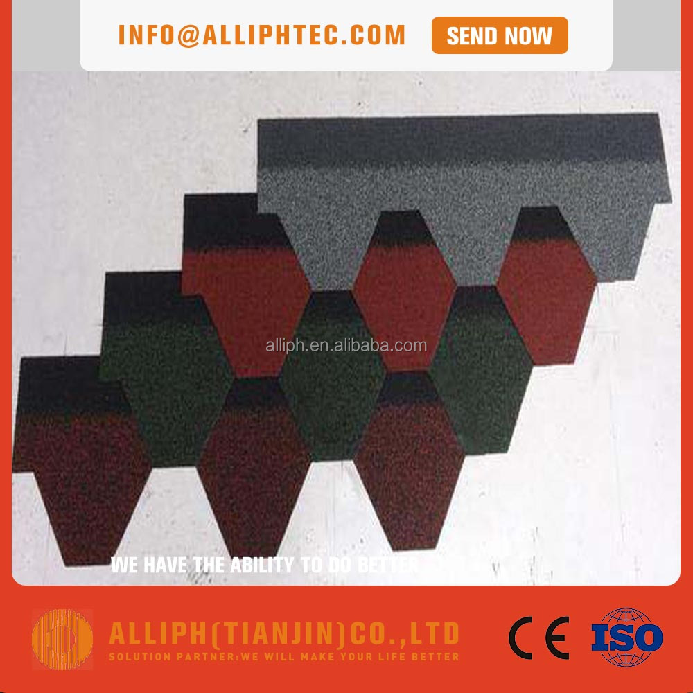 Waterproof Roofing Material Colored fiberglass tire asphalt roofing shingles