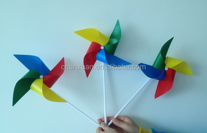 DIY craft toy plastic pinwheel,plastic windmill