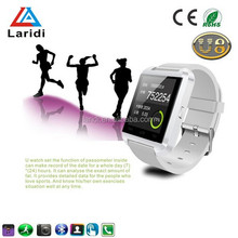 2015 Cheap smart watch bluetooth phone smart watch android phone wrist band with multi languages