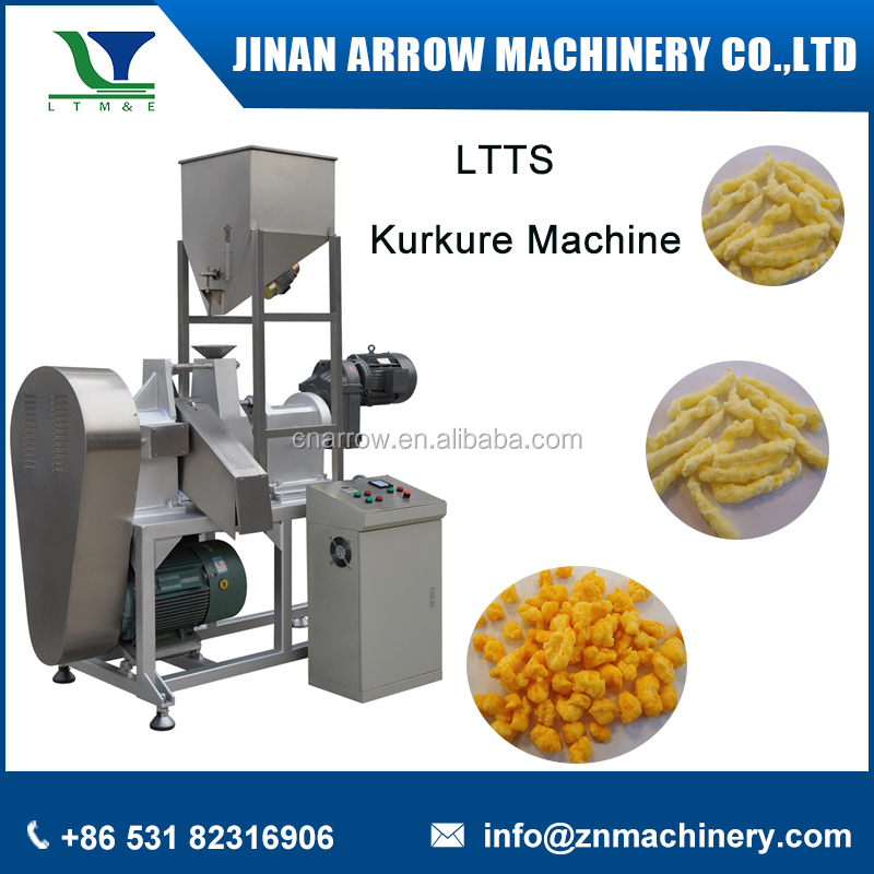 140kg/hLow Price Automatic Extruded Corn Grits Nik Nak Production Line