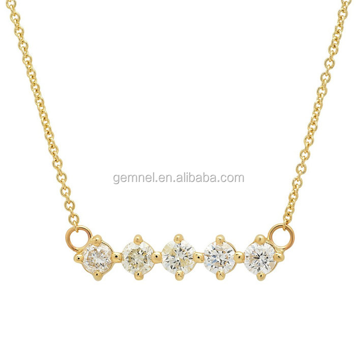 5 diamond necklace 24k gold necklace sterling silver necklace chain