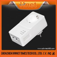 new products on china market 600mbps pass through power over ethernet adapter powerline power line network adapter