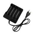 EU/US/UK/AU 4 Slot Li-on Battery Charger for 18650 Rechargeable Battery with Cable