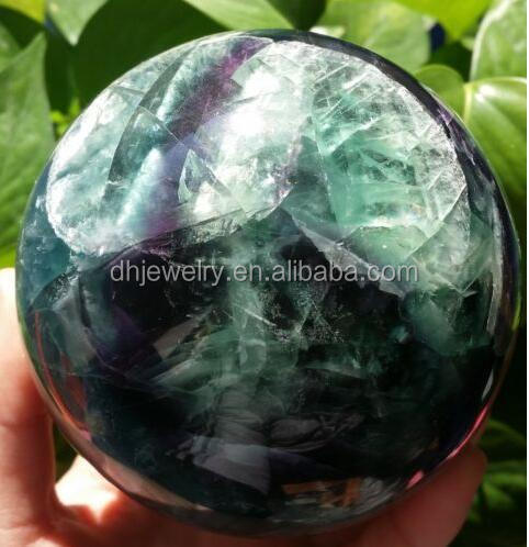 Beautiful rainbow fluorite ball,fluorite crystal ball for sale