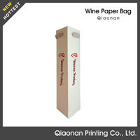 3 Years Shelf life Bottom Tri-angle Paper Wine Bottle Bag